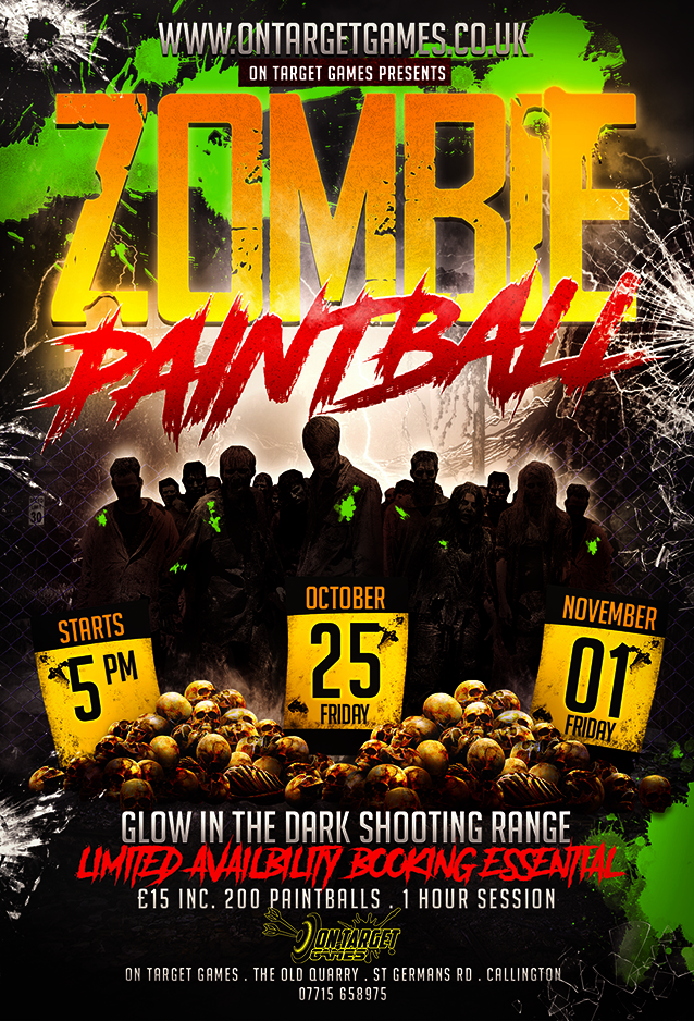 Zombie paintball shoot